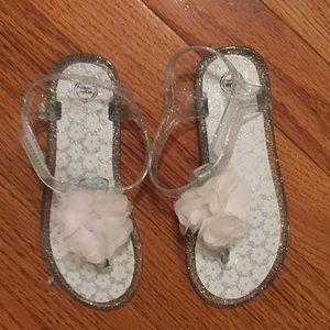 Little girls wonder nation Sandals with flowers 7